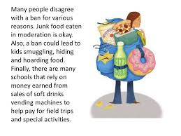 should schools ban junk food and sodas