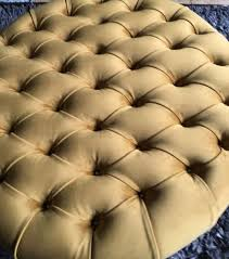 large round mustard deep oned plush
