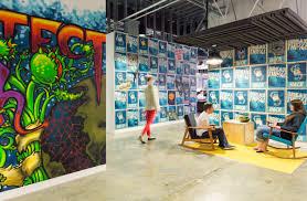 Facebook Art Design Inside Facebooks Menlo Park Headquarters Office Snapshots