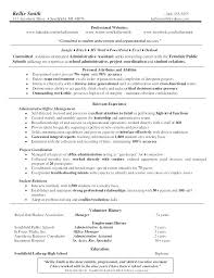 Administrative Assistant Resume Objective Sample Cool Resumes For Administrative Assistant Career Objective Administrative