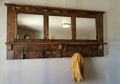 Rustic Entryway Coat Rack Barn wood mirror coat rack wall coat rack coat by JRusticFurniture 26