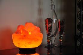 himalayan salt lamp small bowl of fire