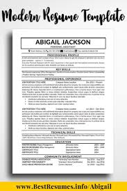 Best One Page Modern Resume Resume Template Abigail Jackson Best Of Www Bestresumes Info