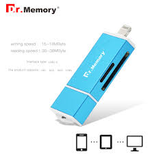 tracker and history of dr memory 3 in 1 lightning micro usb usb memory card reader for iphone 7 plus metal for android otg micro sd card reader
