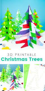 Printable Christmas Tree 3d Printable Christmas Tree Craft Arty Crafty Kids