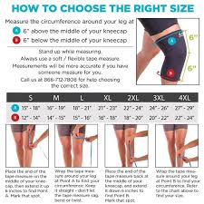 Knee Sleeve Size Chart Neoprene Knee Sleeve For Arthritis Pain Swelling And Sore Joints