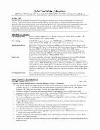 Sample Resume Format For Experienced Network Engineer New Stupendous