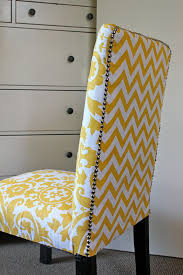 yellow parsons chair. Interesting Yellow Yellow Chevron Parson Chairs For Home Furniture Ideas To Yellow Parsons Chair N