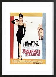 home wall art posters in wooden frames on audrey hepburn breakfast at tiffanys wall art with audrey hepburn breakfast at tiffany s 1961 as poster in wooden