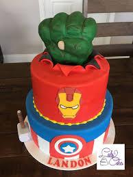 Avenger Birthday Cake Avengers Birthday Cake Ladycakes Bakery
