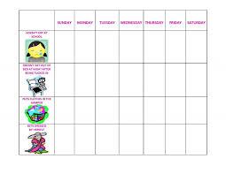 48 Genuine Behavior Chart For Toddler Printable
