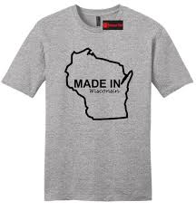 How To Make A Shirt Design At Home Made In Wisconsin Funny Mens Soft T Shirt Home State Pride Holiday Gift Tee Z2 Funny Unisex Casual Tee Gift Silly T Shirt Make Your Own Tee Shirt