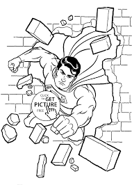 Small Picture Superman coloring pages break printable free coloing 4kidscom