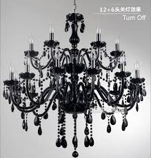 black murano glass crystal chandelier light modern chandeliers pertaining to ideas 9