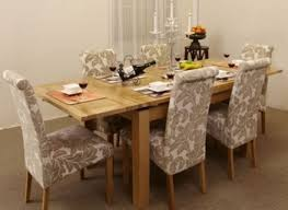 dining tables dining room sets with fabric chairs fabric