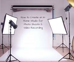 how to create an in home studio for photo shoots recording