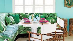 tropical design furniture. The Bold, Leafy Pattern On This South Padre Island, Texas, Banquette Creates A Tropical Design Furniture