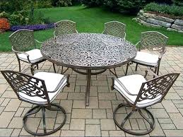 wrought iron patio dining set round table sets complicated carved outdoor garden furniture w