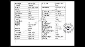 ielts english hindi voary words