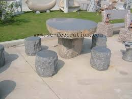 name black basalt tables chairs