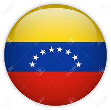 Vector Venezuela Flag Glossy Button Royalty Free Cliparts Vectors