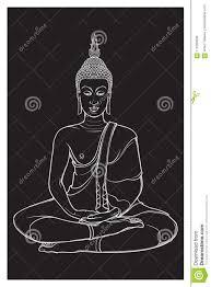 будда сидя и размышляя в одиночном положении лотоса затейливый