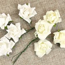 Paper Flower Wedding Decorations Crepe Paper Rose Wedding Decorations Ivory Or White Pipii