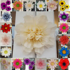 Tissue Paper Flower Centerpieces Details About Wedding Pompom Tissue Paper Flower 19cm Venue Decoration Baby Shower Centerpiece
