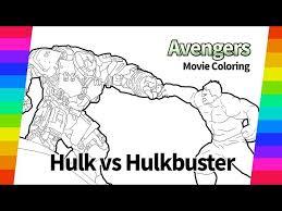 Фигурка халкбастер и халк производство: The Avengers Coloring Pages Hulk Vs Hulkbuster Movie Digital Drawing دیدئو Dideo