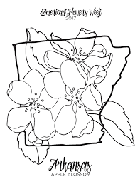 Small Picture 50 State Flowers Free Coloring Pages american flowers week
