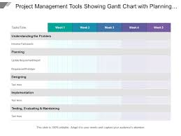 Project Management Tools Showing Gantt Chart With Planning