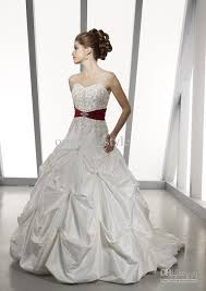 discount 2012 sexy white red taffeta wedding dresses bridal gowns