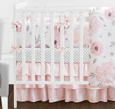 baby girl crib bedding sets under 100 best of 9 pcs blush pink grey and white