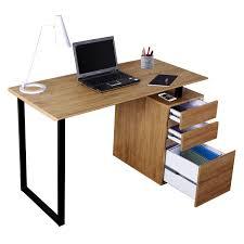 Techni Mobili RTA-1305-PN Computer Desk with Storage and File Cabinet in  Pine