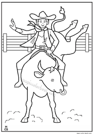 Small Picture Cowboy rodeo coloring pages Magic Color Book