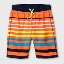 Cat And Jack Size Chart Boy Cat Jack Boys Striped Swim Trunks Upf50 Nwt Nwt