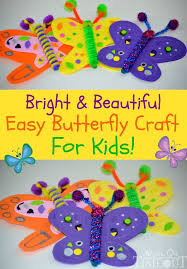 Bright and <b>Beautiful Butterfly</b> Craft - Mom On Timeout