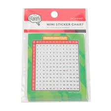 Multiplication Chart 0 50 The Brainery Multiplication Chart Mini Sticker Chart 3 X