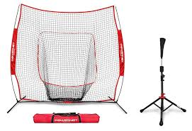 PowerNet Baseball Softball 7x7 Practice Net Bundle w: Travel Tee 10 Best Batting Tees and Trainers of 2019 | Dugout Debate