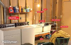 convert an unfinished laundry area into a room expert water supply box 5 washing machine