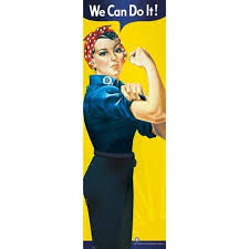 get ations rosie the riveter we can do poster print 12 x 36