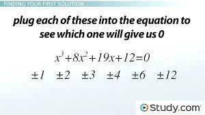 quadratic formula factor calculator math solving cubic equations with integers lesson transcript mathematics of investment