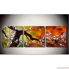 decor tips cherry blossom piece canvas wall art sets bedroom room cherry blossom origami decoration