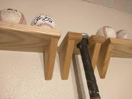 baseball bat wall hanger solid ash wood