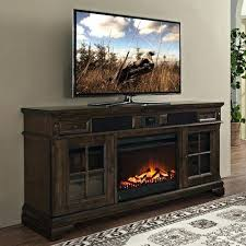 incredible electric fireplace stand designs glass tv media console with embers