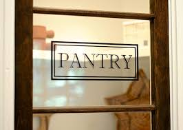 frosted glass pantry door decals