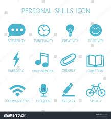 Personal Skills Icon Self Characteristic Vector Stock Vector