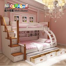 American Mediterranean bed bunk bed mother and boy child princess bed bunk  bed picture girl