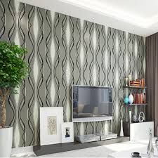 Q QIHANG Modern Minimalist Geometric Patterns Wavy Stripes Non woven  Wallpaper Roll 3 Colors choose 5.3m2-in Wallpapers from Home Improvement on  ...