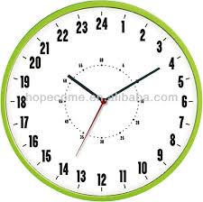 24 hours decorative super market wall clock plastic cover jpg